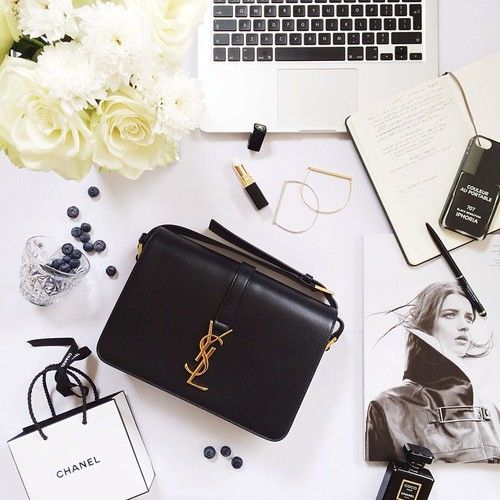 Chic Elegant Business Woman Desk Office Chanel YSL Bag Magazine ...
