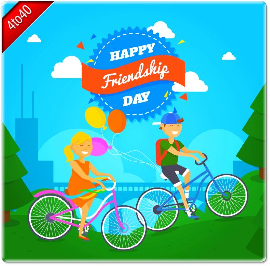 Friendship is like cycling - World Friendship Day Greeting