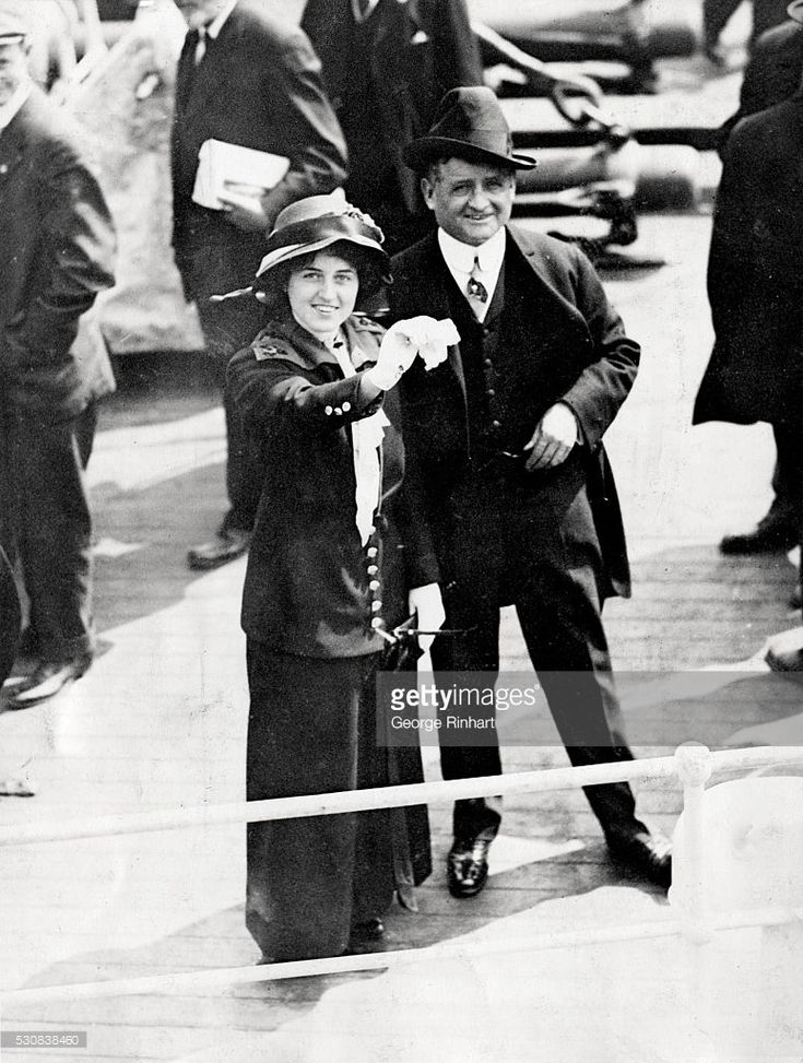 Mayor John F. Fitzgerald and Miss Rose Fitzgerald leaving on South American tour.