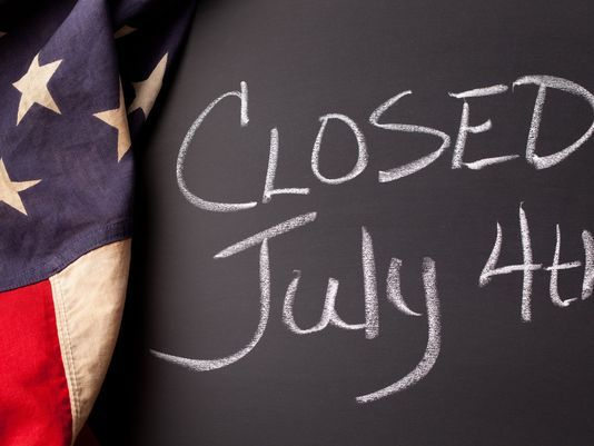4th Of July Closed Sign Holiday Sign For Workplace Status