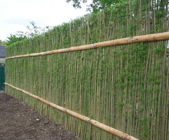 Как сделать забор - плетень на даче своими руками.