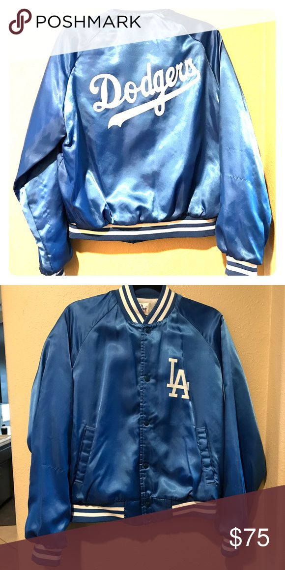 LA Dodgers vintage jacket Vintage satin Dodgers jacket by Chalk Line. Pretty old, some signs of wear(small snags) but great condition overall! **I will accept reasonable offers** Chalk Line Jackets & Coats