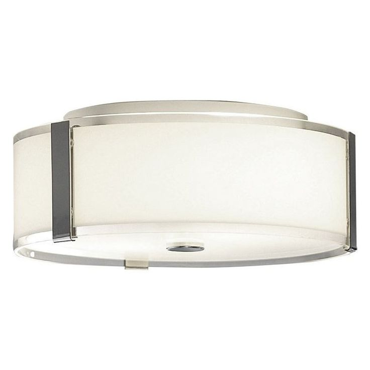 allen + roth 13.875-in W Chrome Ceiling Flush Mount Light  Chrome Flush MountChrome finishIncludes an etched glass shade and diffuserAll mounting har…