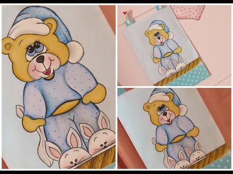 Pintura em tecido passo a passo - URSINHO COM PANTUFAS - Artes Mariana Santos - YouTube