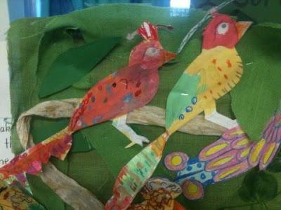 Feathers for Phoebe by Rod Clement- Kindergarten Art Lesson Flourishing in Kindergarten- Carla Morris