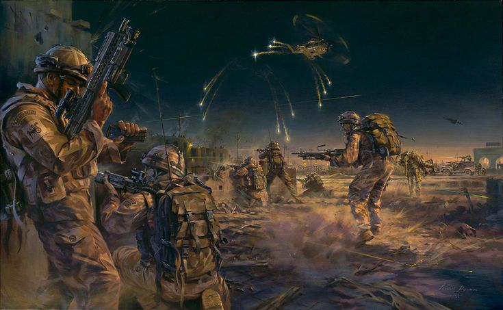 1 Squadron RAF Regiment engage enemy insurgents. Basrah, Iraq 2007.
