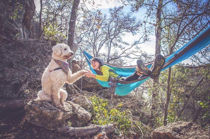 Summer Checklist: Roo & your favorite adventure buddy || #theroolife #kammok #letshang #adventurepup #hiking #hammock