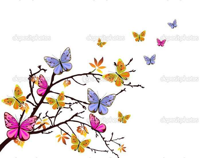 Colorful Butterflies Flying | Vector illustration of ...