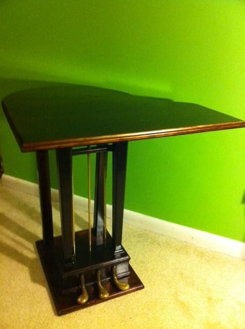 Piano side table made with real piano pedals by espngrl on Etsy, $295.00