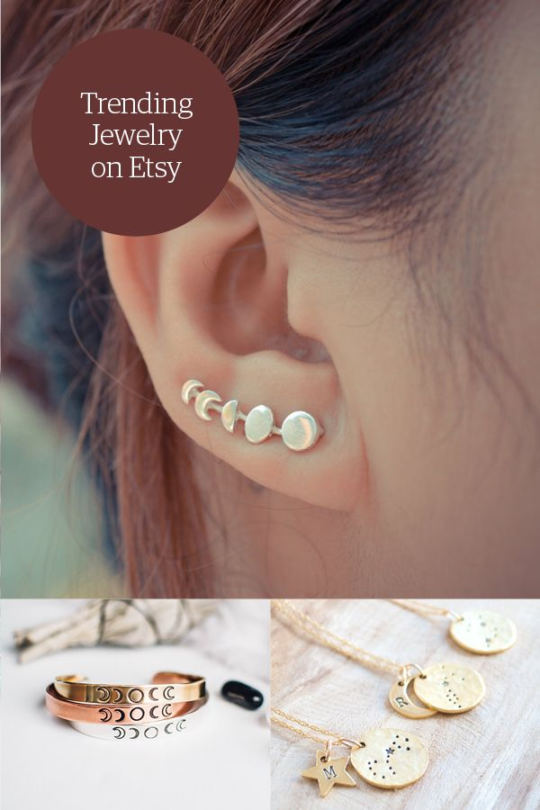 These pieces will have you feeling over the moon. Shop all the shiny things in Etsy's Jewelry Shop.