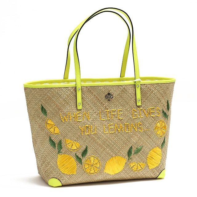今年のカゴバッグはこれに決まり!レモン刺繍が可愛いケイトスペードの ... 大容量でしっかり収納のトートバッグFRANCISシリーズのサマーバッグです。 丁寧に編みこまれたストロー素材にレモンの刺繍が施されています今期トレンドのイエロー ...