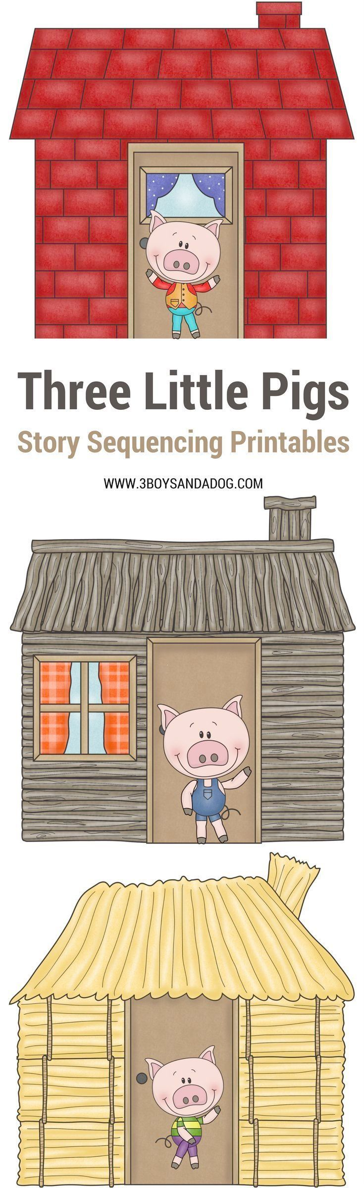 These 3 Little Pigs Pictures To Sequence Are Fun And Educational Paired With The Classic 3 Little Pigs Story Th Three Little Pigs Little Pigs Story Sequencing [ 2400 x 735 Pixel ]