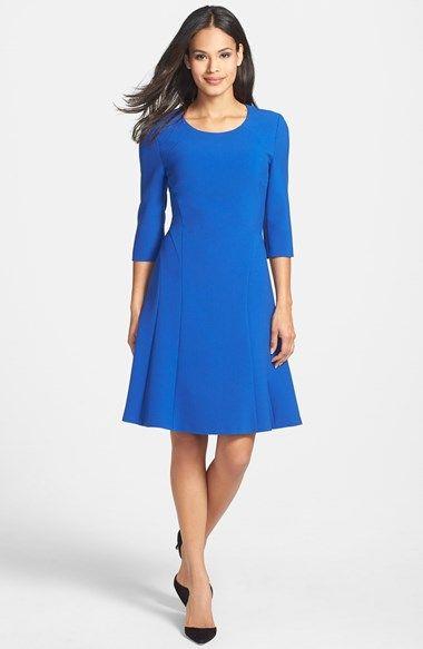 BOSS HUGO BOSS BOSS 'Dasona' Fit & Flare Dress available at #Nordstrom