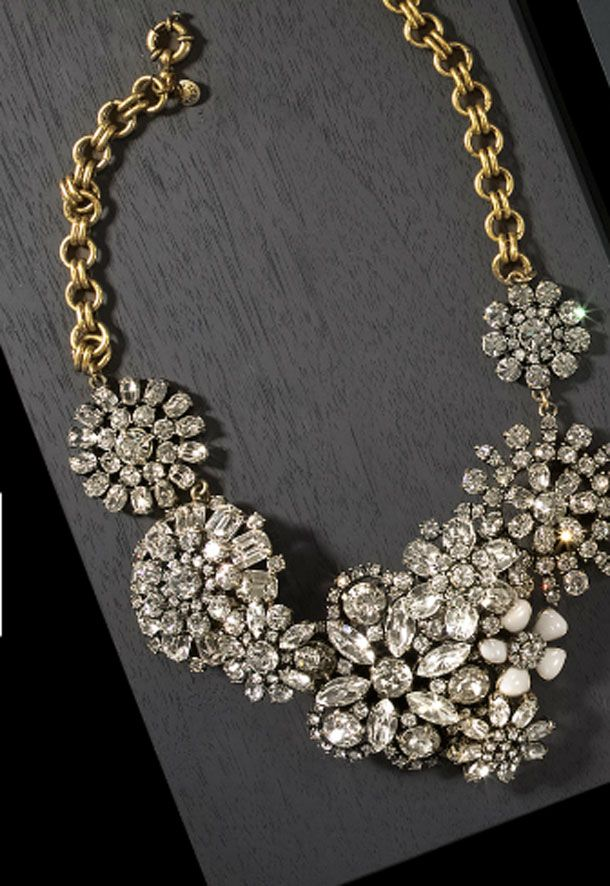 J.Crew statement necklace... so what if it's a bit gawdy? It's a STATEMENT necklace! :)