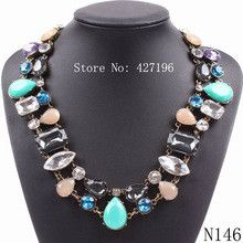new arrival model 2016 fashion brand cheap statement necklace crystal choker jewelry for women free shipping