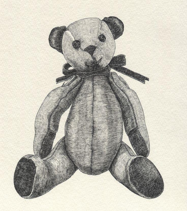 テディベア #イラストレーション #イラスト #illustration #illust #テディベア #teddybear #線画