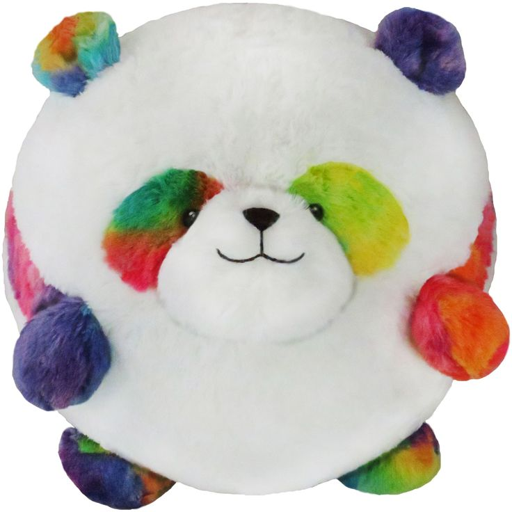 Woo! It's here! The Squishable Prism Panda! The first of a WEEK of new Squishy Prisms! A whole fuzzy spectrum of colors in huggable form! #squishable #plush #panda