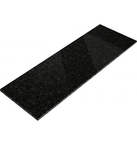 Large Granite Hearth Front, Black