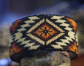 Pulsera de abalorios hecha a mano nativo americana (Lakota Oglala)