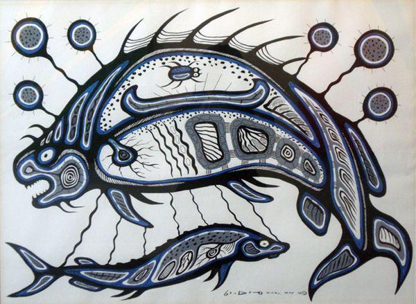 carl ray art   Fish :: Carl Ray :: Woodlands Indian Art :: Gallery Phillip