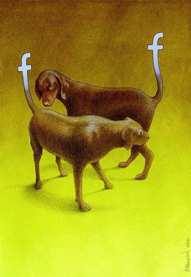 New selection of satirical illustrations by Polish illustrator Pawel Kuczynski...