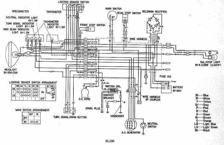 1970 honda sl100 wiring diagram