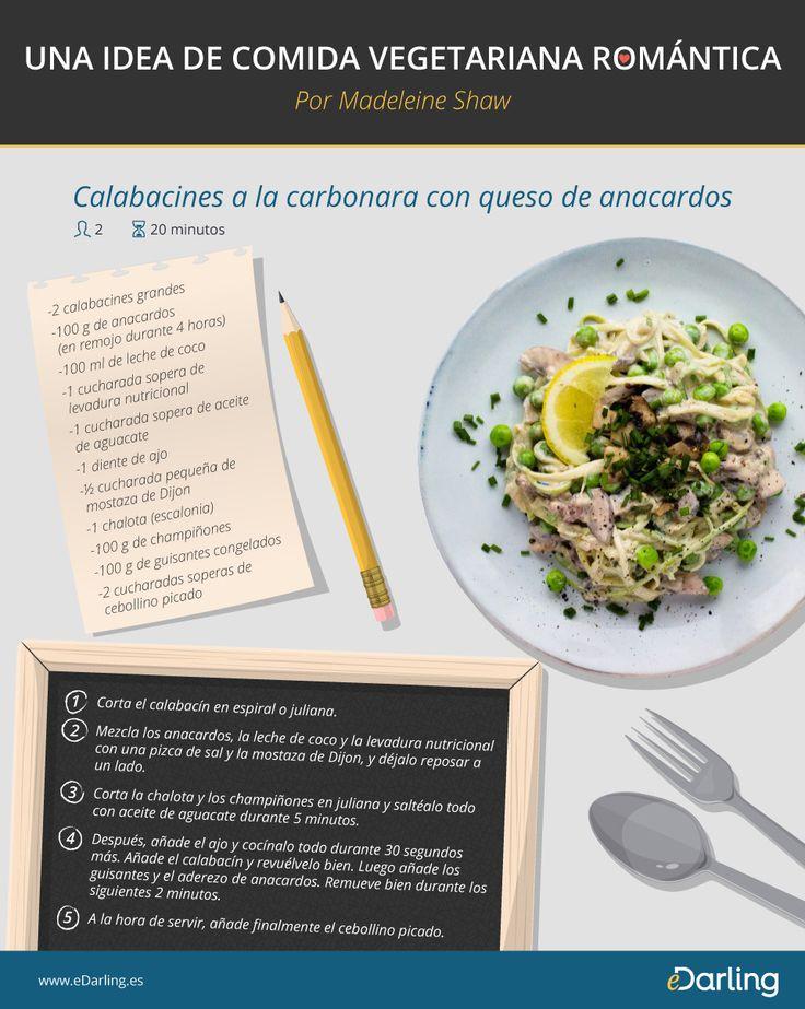 Infografía: Una idea de comida vegetariana romántica - Por Madeleine Shaw