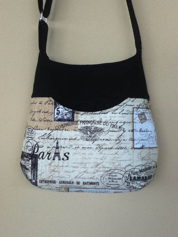 Paris Script Cross Body Small  Bag by NormasClay on Etsy, $28.00