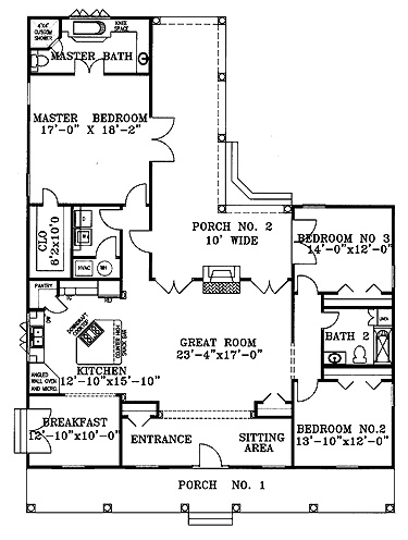 3br 2ba open floor plan for the home pinterest
