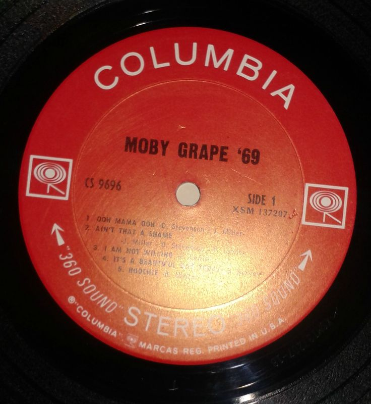 Original Columbia two eyes label -Moby Grape '69