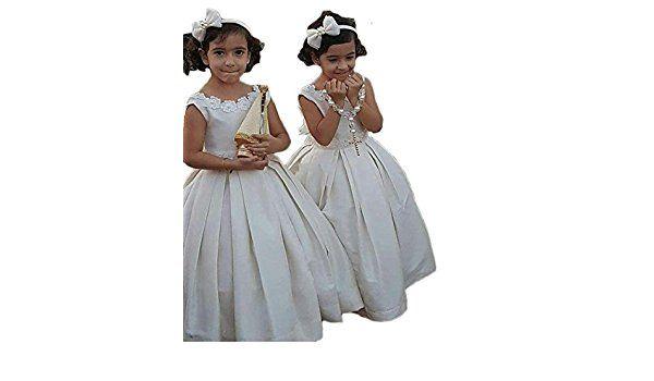 mxgirls Mädchen erste Kommunion Kleid Pageant Kleid ärmelloses ...