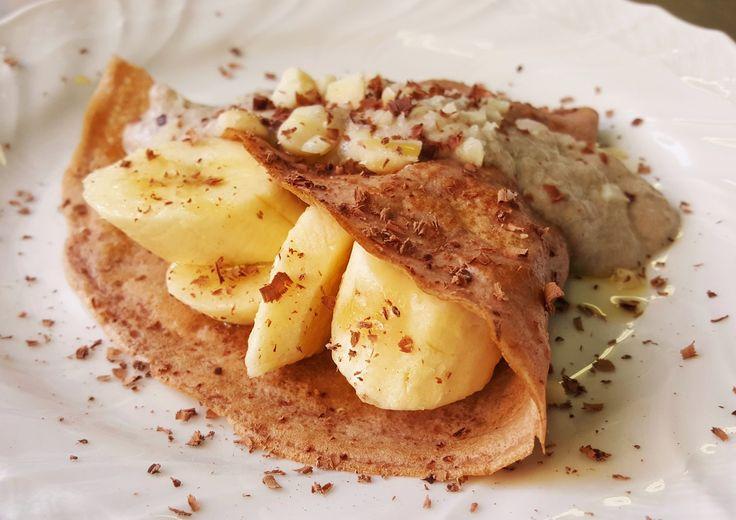 crepe di castagne e banane 3