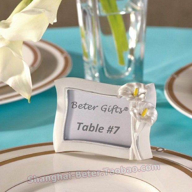 Could be combined as place card holder and wedding favor Calla Lily Favor Wedding  Place Card Holder and Photo Frame