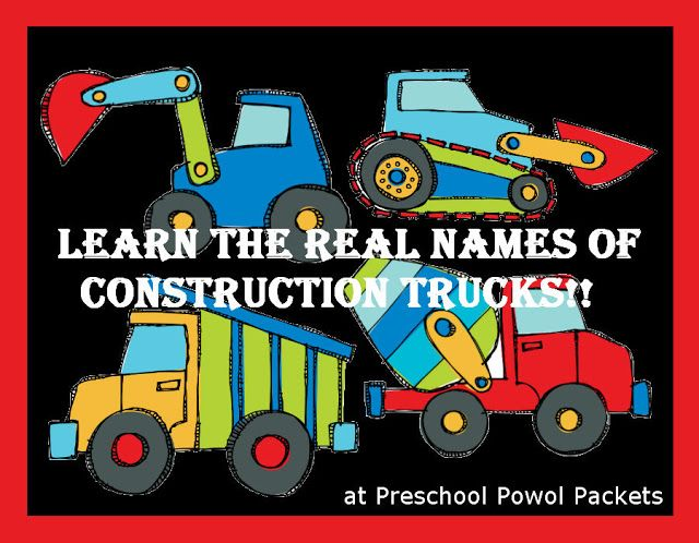Learn the names of all the construction vehicles with this educational activity!