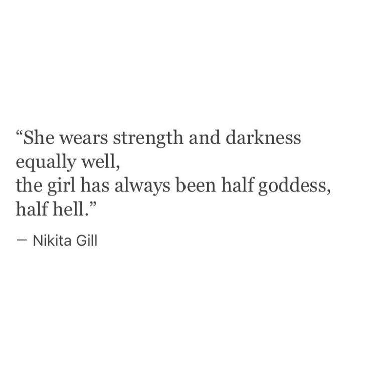 Half goddess half hell