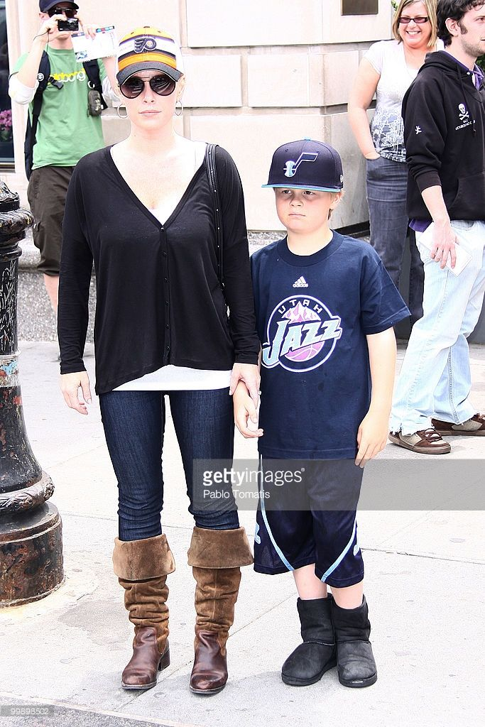 Jaime Bergman and Jaden (L-R) sighting at Central Park on May 17, 2010 in New York City.