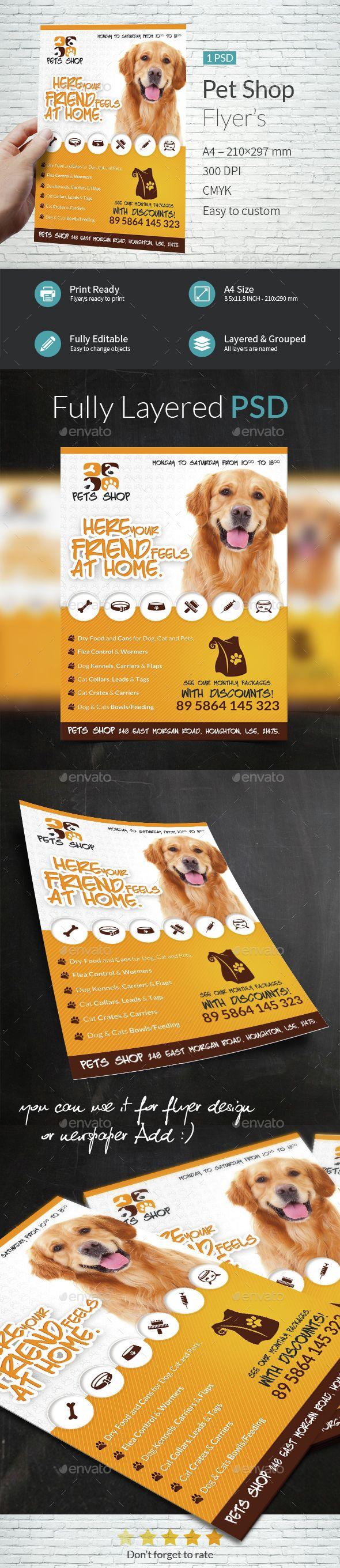Pet Shop A4 Flyer Template