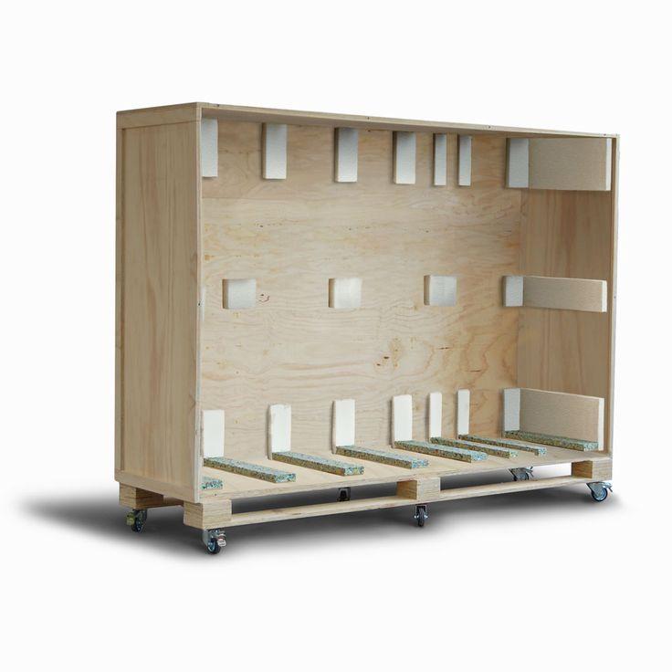 Kunst transportkist op maat. Van multiplex hout. ISPM 15 voor wereldwijd transport.