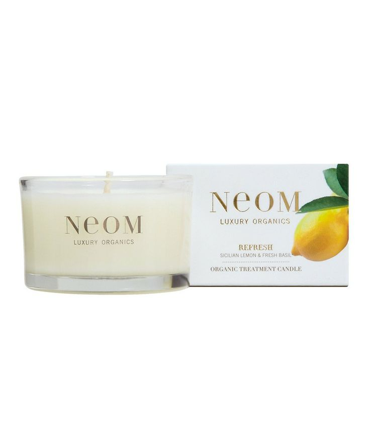 Christmas #GiftGuide - Refresh Organic Treatment #Candle by NEOM via @Cindy Ly Beauty