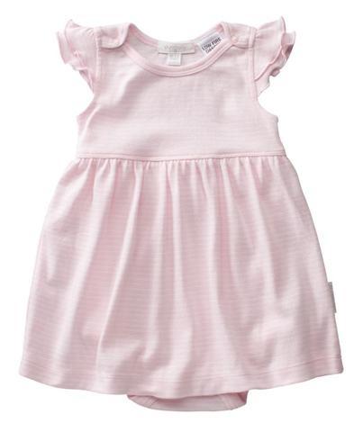 tiny pink stripe dress #babyfashion #purebaby