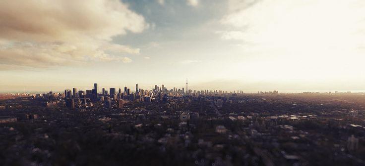 Toronto skyline shot taken right before i crashed my drone.