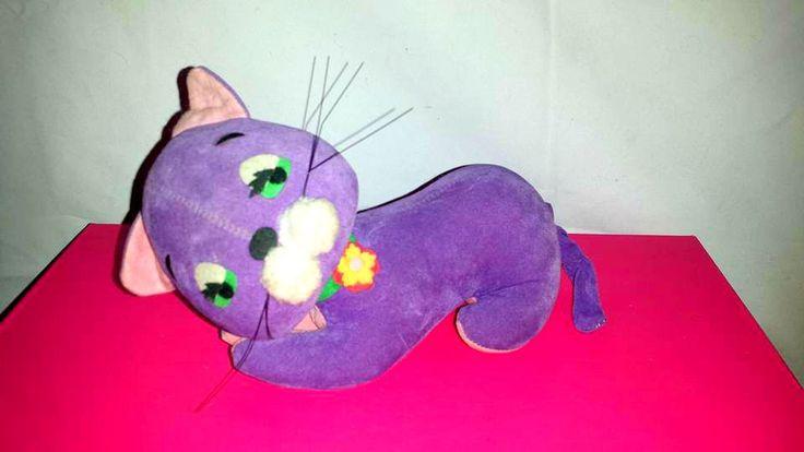 Vintage Dream Pets Cat,Cat Plushie,Purple Cat,MOD,Dream Pets,Cat,Kitten,Saw Dust Pet,Japan,1960s, Dakin,Purple,MCM,Kitten,Kitsch, Big Eyes by JunkYardBlonde on Etsy #dreampets #sawdustpet #purplecat #cat #kitten #mod #mcm #kitschy #dakin #japan #bigeyes #dreampetcat