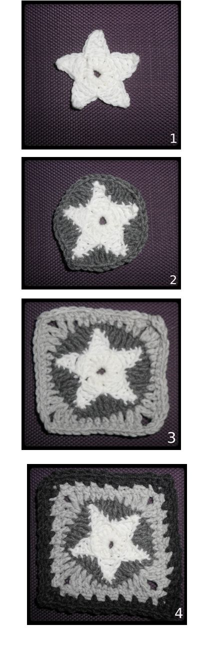 Woollen Thoughts: First Star Granny Square