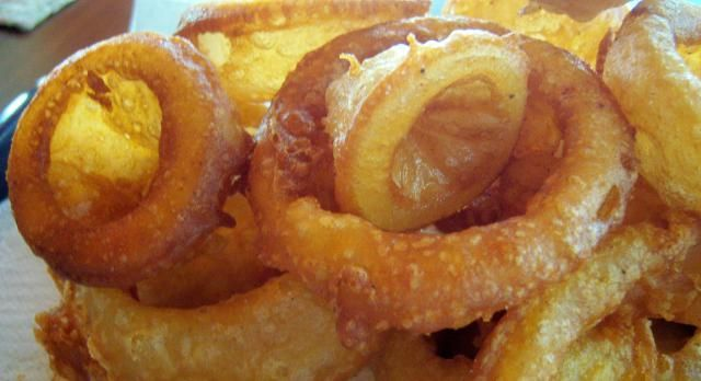 A real treat - gluten-free onion rings!