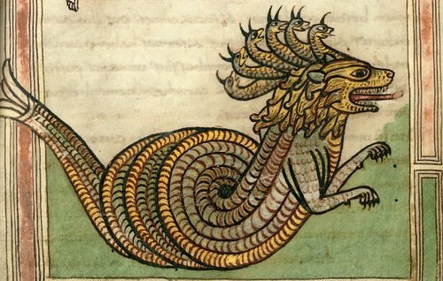 Dragon, German ms., 9th century (Valencienne ms 99).