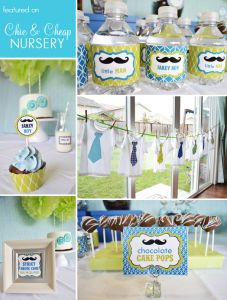 Love this idea for a baby boy baby shower :)!