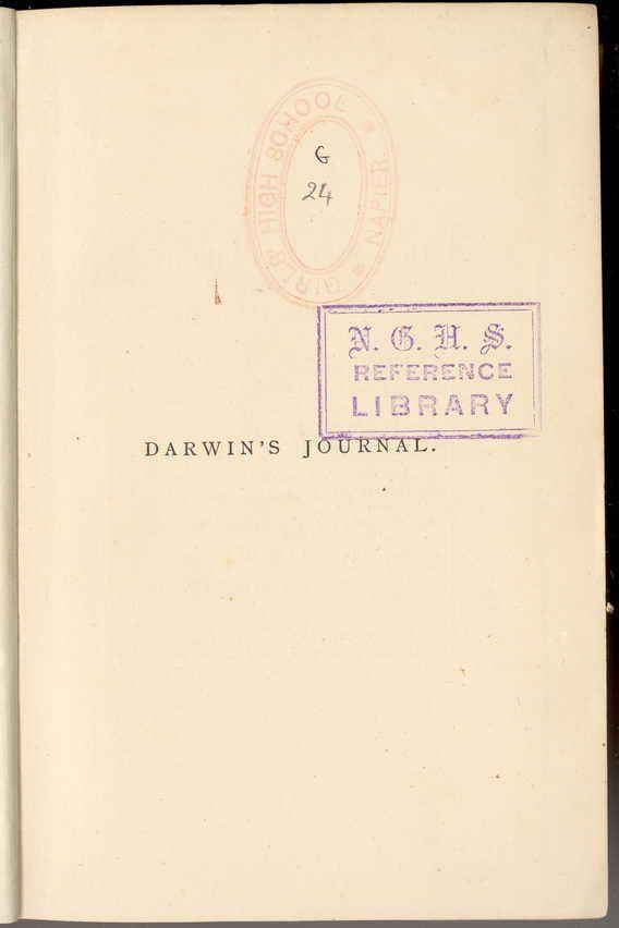 Darwin's Journal