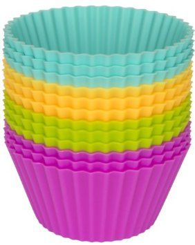 Silicone Baking Cups - Set of 12 Reusable Cupcake Liners