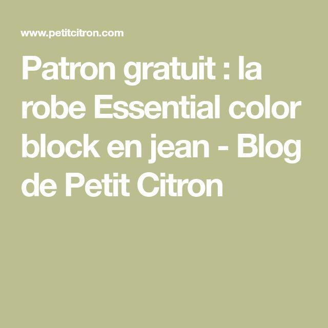 Patron gratuit : la robe Essential color block en jean - Blog de Petit Citron
