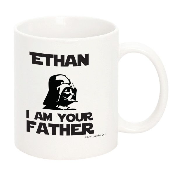 Make Dad feel extra special with his very own personalised Star Wars I Am Your Father mug! Choose up to 2 names to personalise - with a maximum of 12 characters